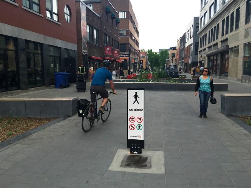 Les cyclistes continuent de rouler sur la rue Prince-Arthur