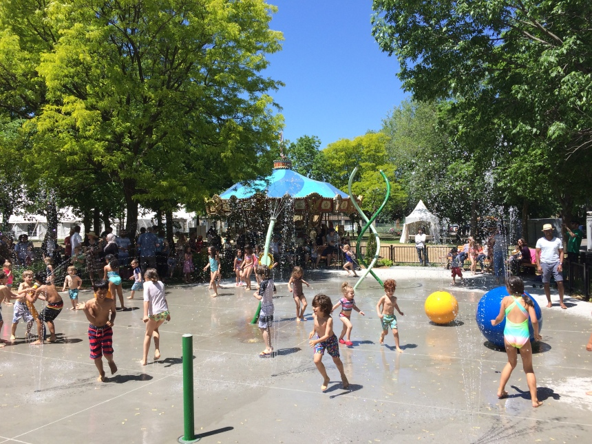 Nouveaux jeux d'eau au parc Beaubien