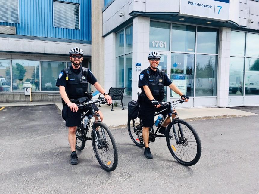 Retour de la patrouille à vélo