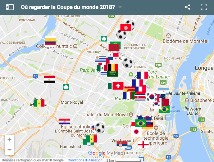 Où regarder la Coupe du monde 2018 à Montréal