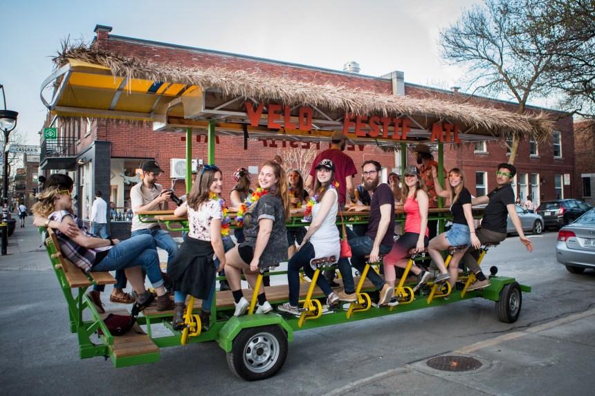 Vélo Festif Mtl: faire la fête sur un vélo dans le Plateau-Mont-Royal