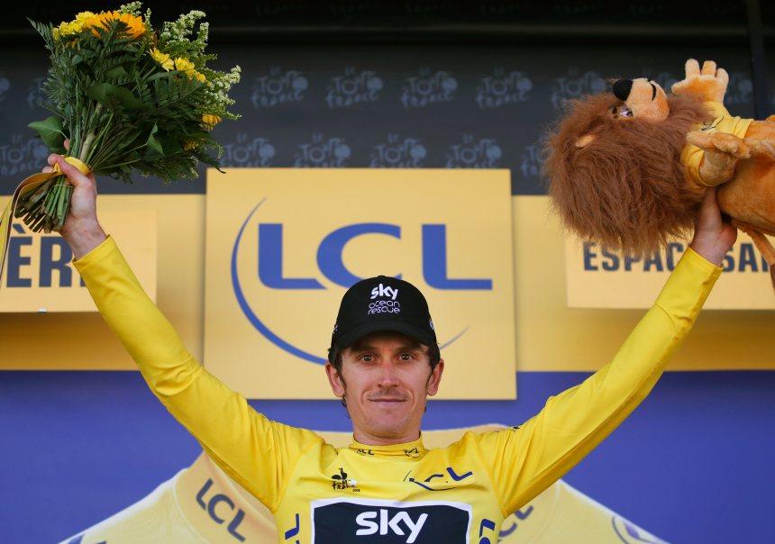 Geraint Thomas s'empare du maillot jaune au Tour de France