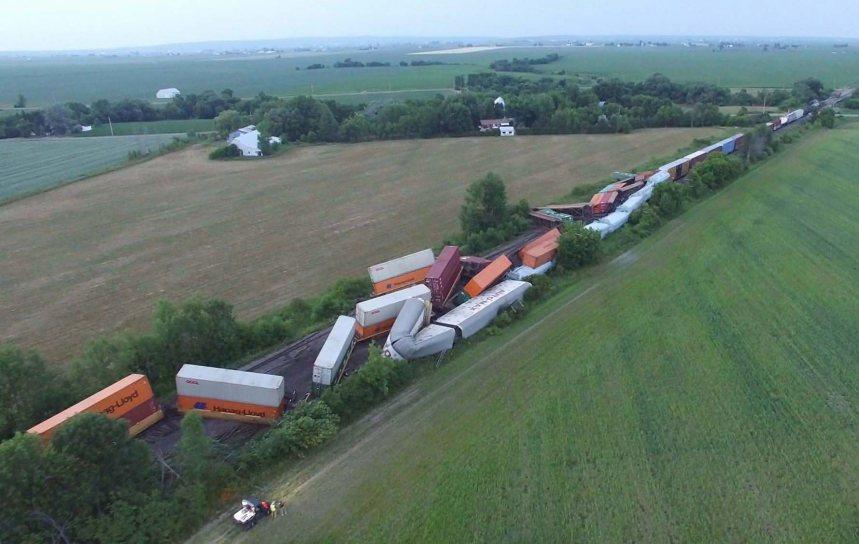 Un train de marchandises déraille en Montérégie