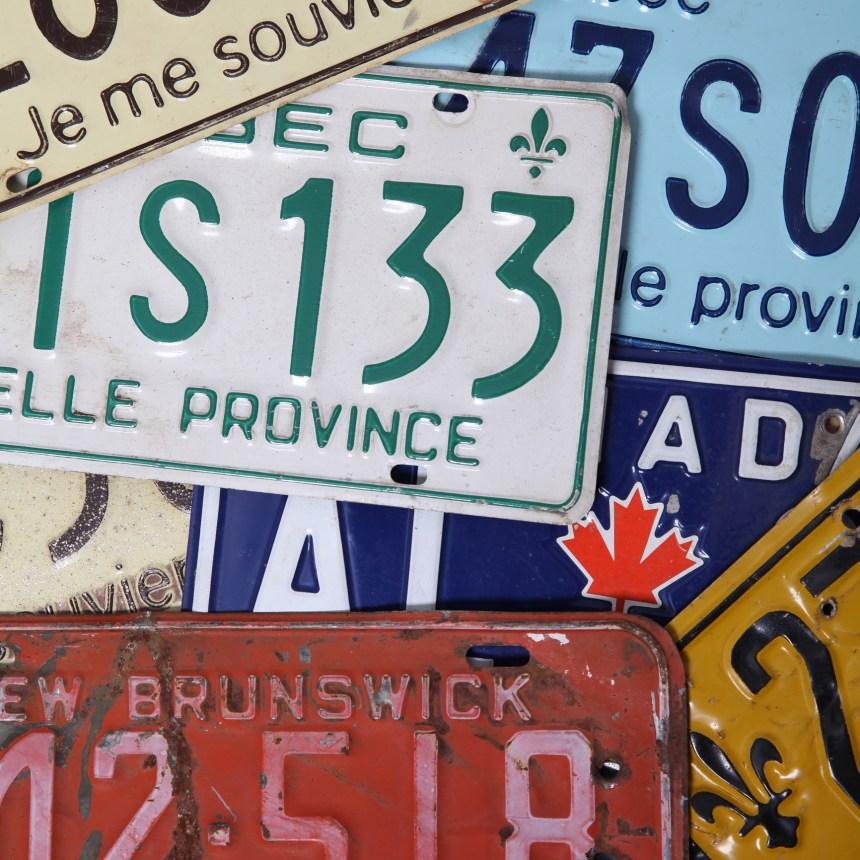Des plaques immatriculation personnalisées au Québec