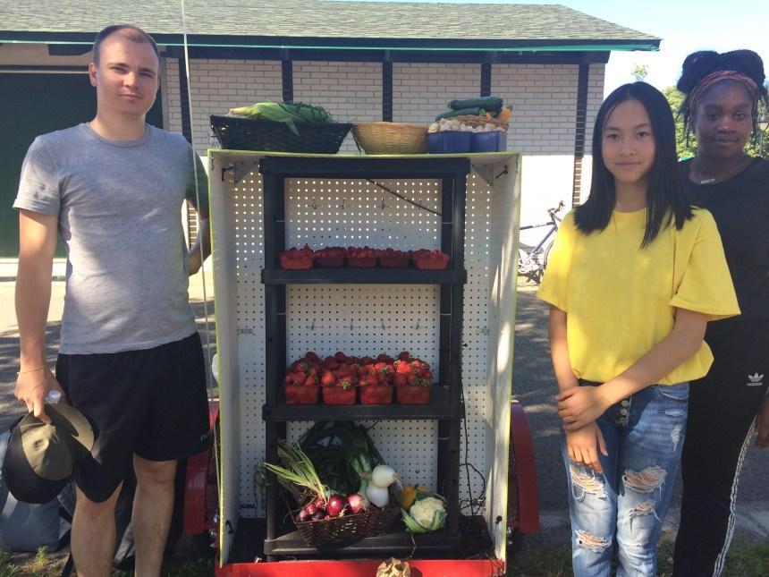 Une visite au parc pour se procurer des fruits et légumes frais