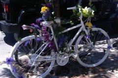 Hommage à la victime qui a inspiré le premier vélo fantôme