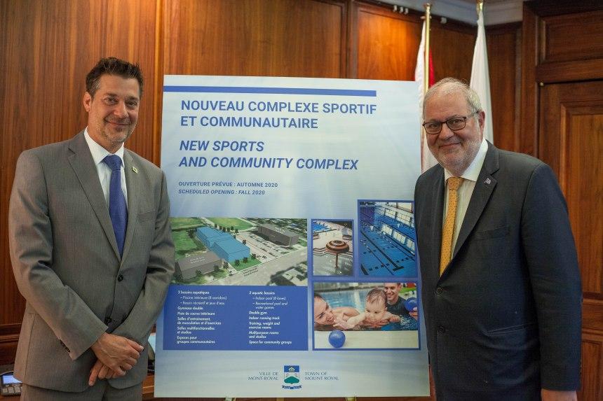 Subvention pour le centre sportif de Ville de Mont-Royal