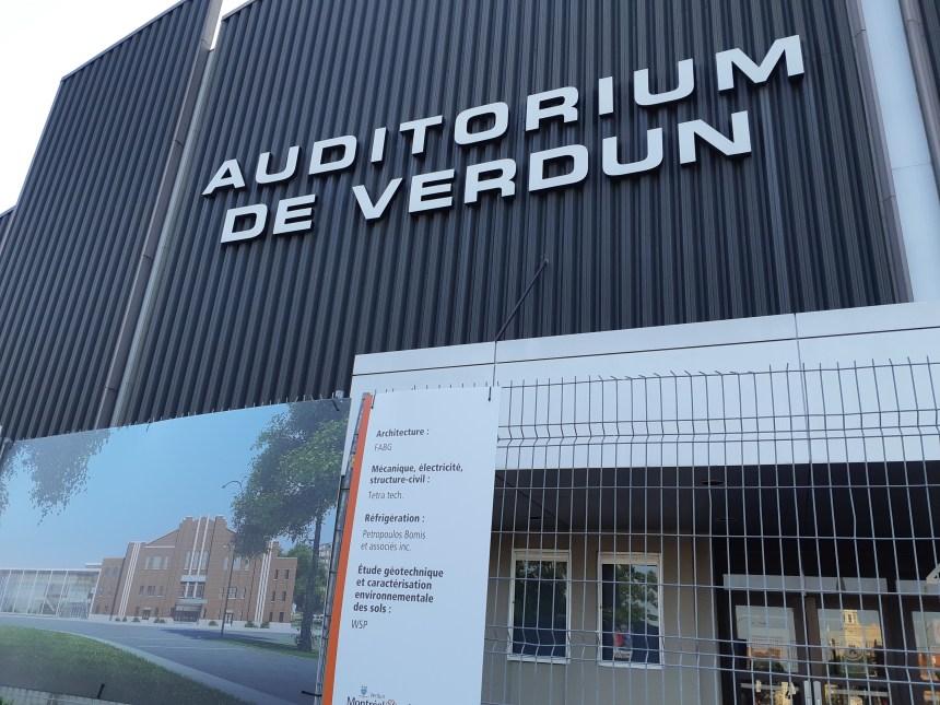 L'échéancier pour l'Auditorium de Verdun