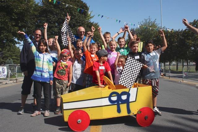 Une course de bolides pour enfants à Lachine