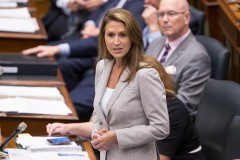 Caroline Mulroney à un cocktail conservateur au Saint-James
