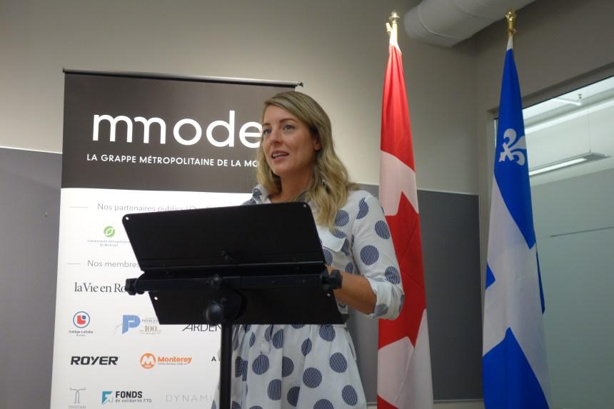 Une aide fédérale pour l'industrie de la mode québécoise