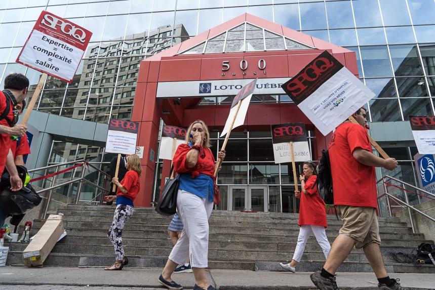Nouvelle grève de syndiqués de Loto-Québec