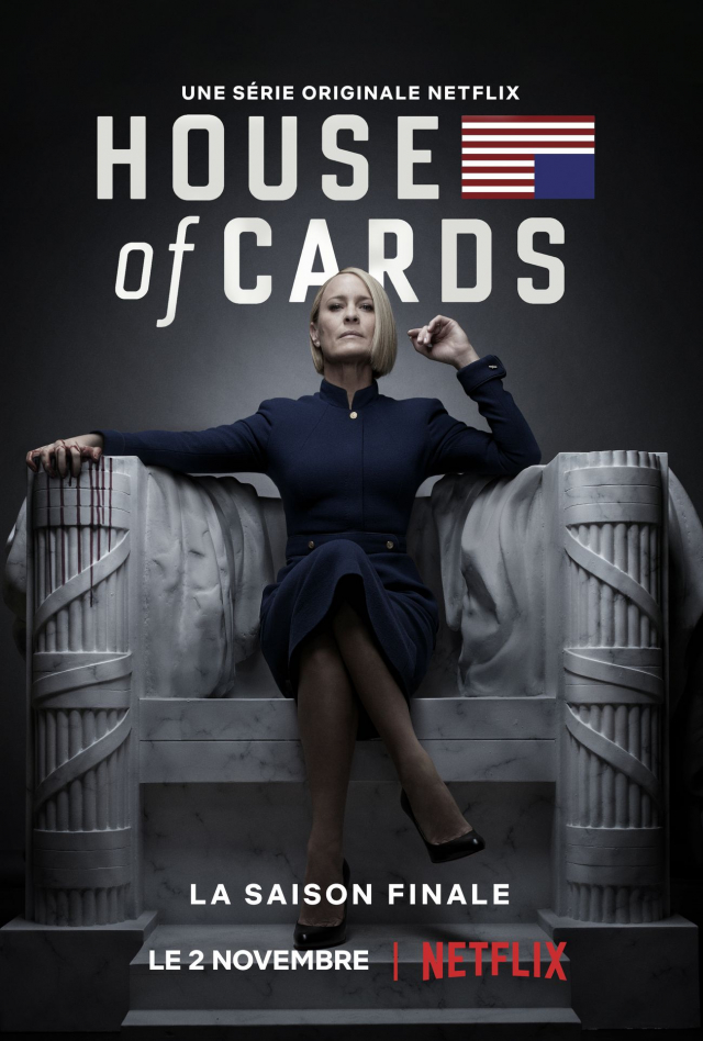 L'ultime saison de «House of Cards» sur Netflix en novembre