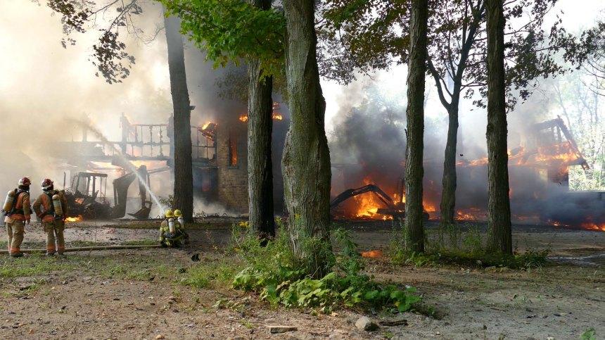 Incendie majeur à Senneville