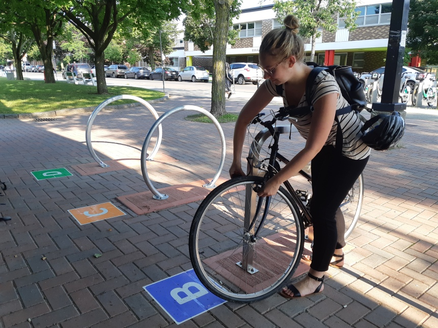 Nouvelles installations pour vélo