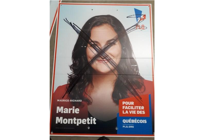 De nombreuses pancartes électorales vandalisées à Ahuntsic