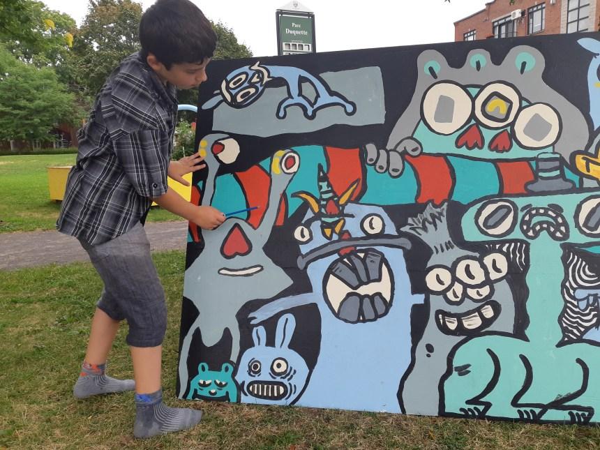 Inspirer les jeunes avec une murale collective à Verdun