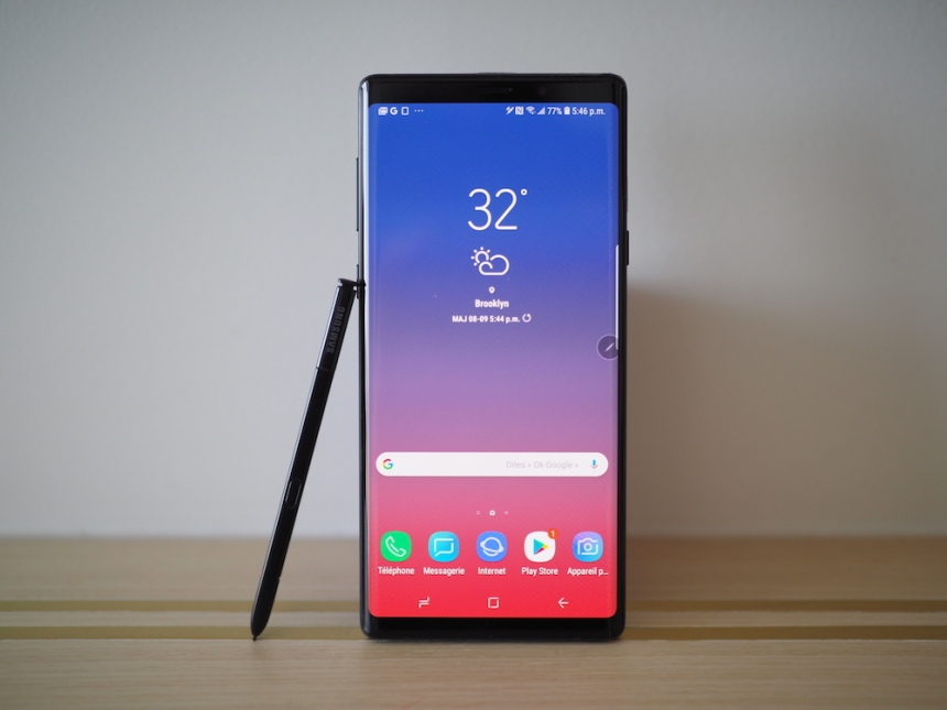 Premières impression du Samsung Galaxy Note 9