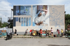 New mural brightens up a Verdun neighbourhood