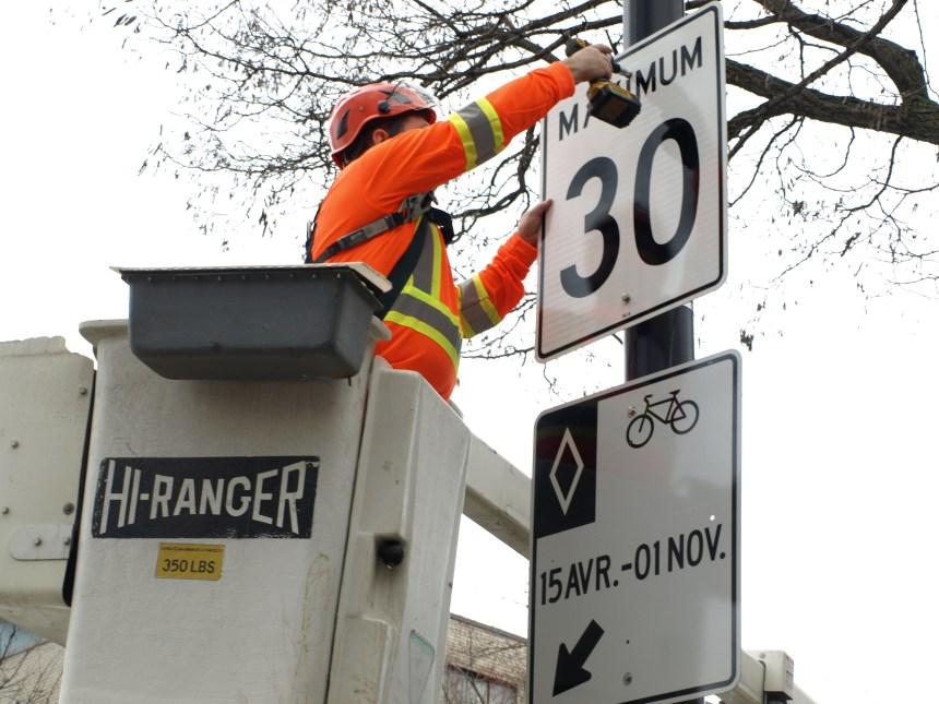 Limite de 30 km/h près des parcs et écoles de Rosemont