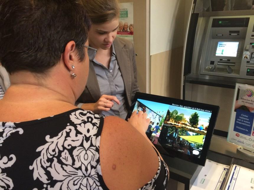 Inauguration de la première borne interactive Mercier-Est en réseau
