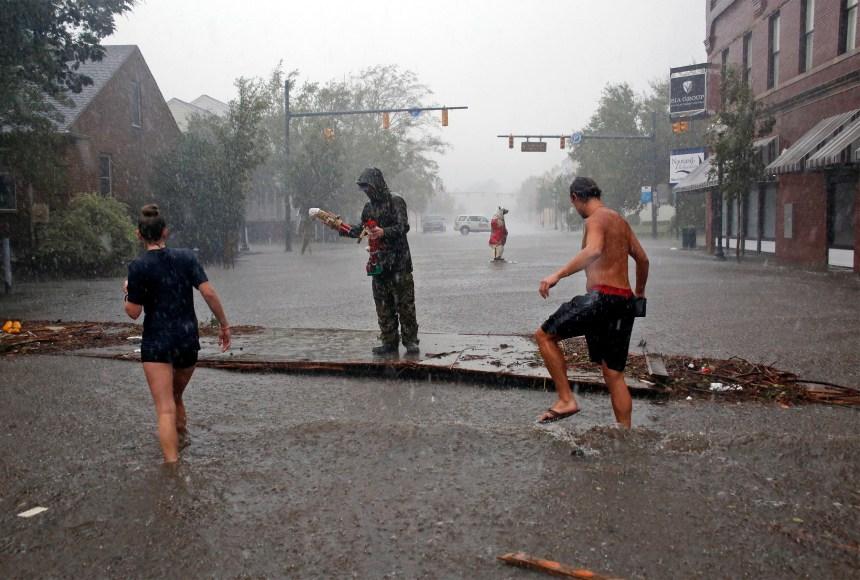 La tempête Florence déverse des «quantités monumentales» de pluie en Caroline du Nord