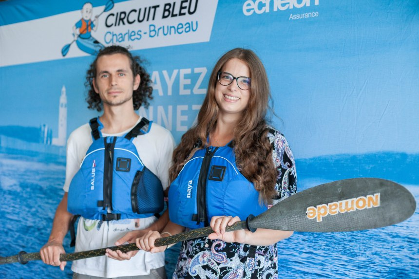 Circuit bleu Charles-Bruneau: pagayer contre le cancer