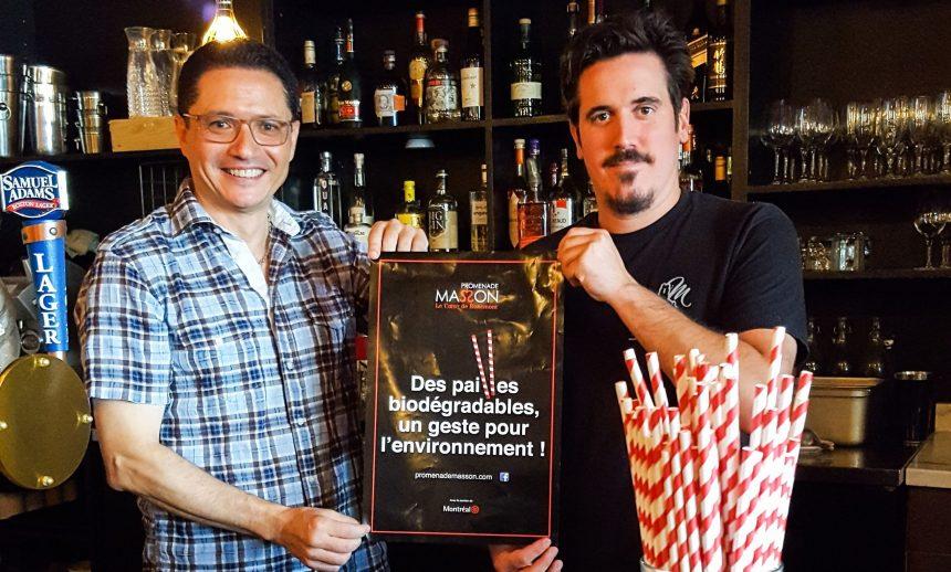 Une initiative pour éliminer les pailles en plastique sur Masson