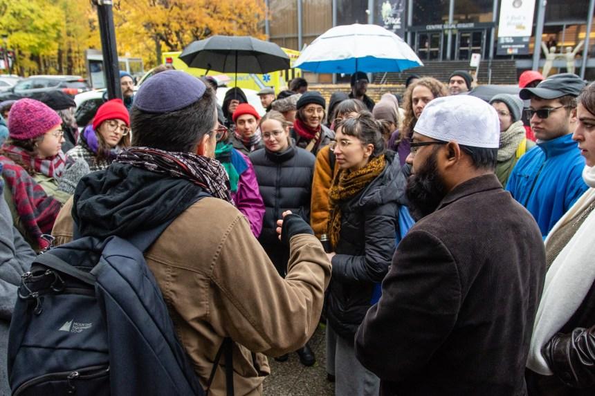 Appel contre la haine à Montréal après l'attentat de Pittsburgh
