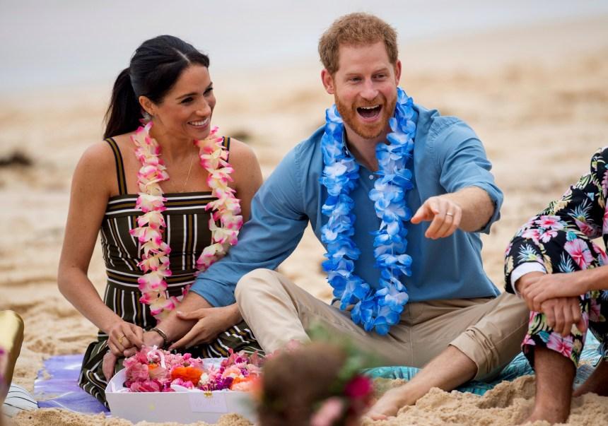 Harry et Meghan à la plage en Australie