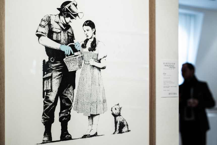 Banksy avait prémédité l'autodestruction de sa toile