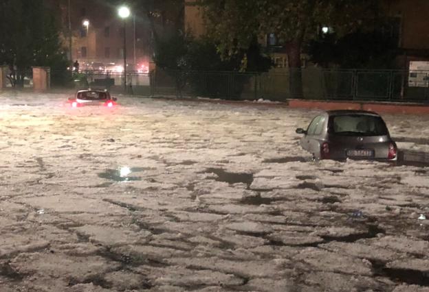 Une «mini-banquise» dans les rues de Rome