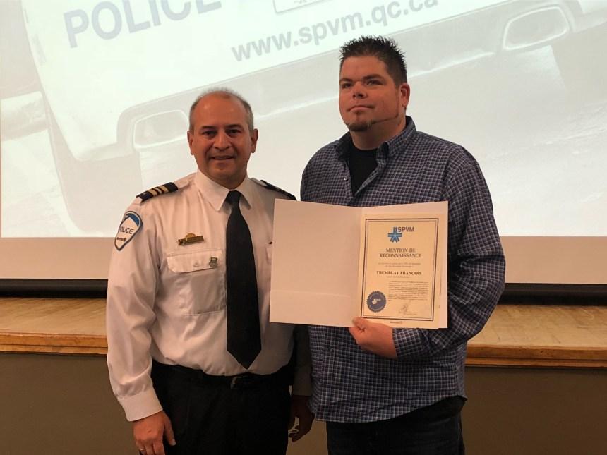 Un héros de Rivière-des-Prairies honoré par le SPVM
