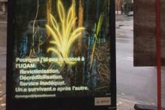 Violences sexuelles: des affiches critiquent la gestion de l'UQAM à Montréal