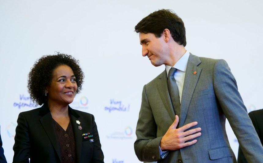 Justin Trudeau salue le travail de Michaëlle Jean