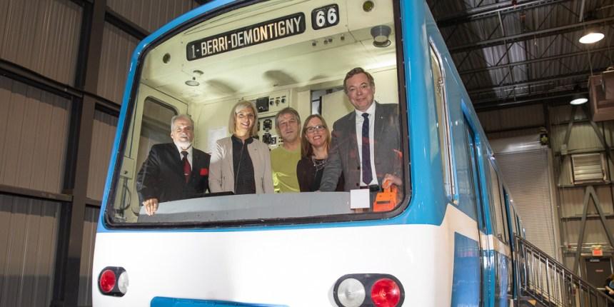 La voiture inaugurale du métro de Montréal désormais exposée à Saint-Constant