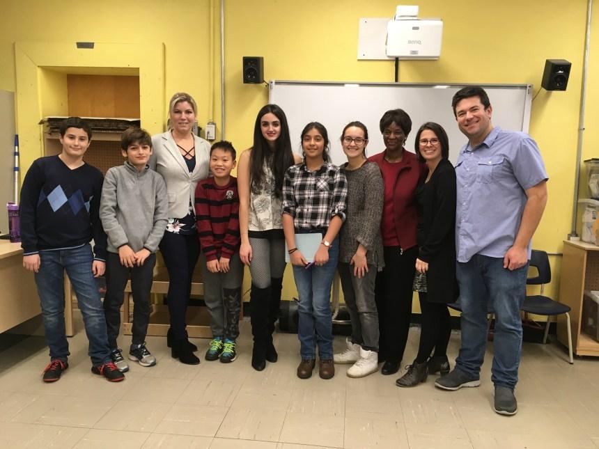 Visite de la députée de Saint-Laurent à l'école Enfants-du-Monde