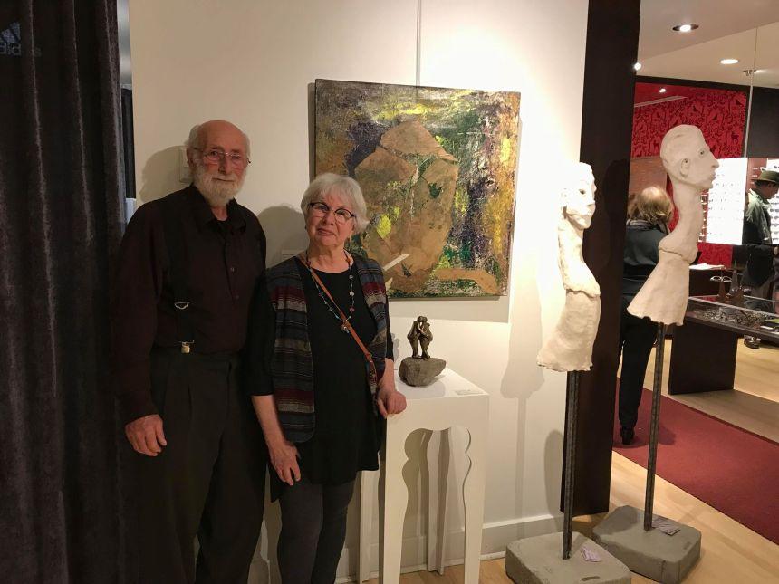 Les LaSallois Rochelle Mayer et André Ferron exposent ensemble