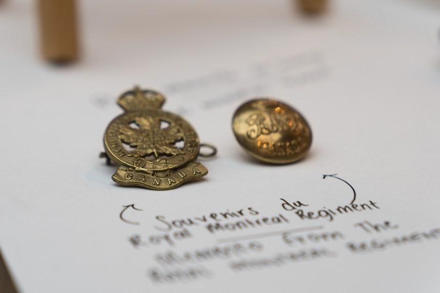 Les objets d'un soldat montréalais rapatriés, un siècle plus tard