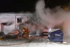 Incendie dans le secteur industriel de Saint-Laurent