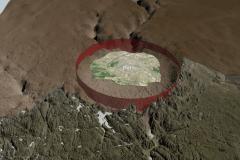 Un cratère de la taille de Paris découvert sous la glace au Groenland
