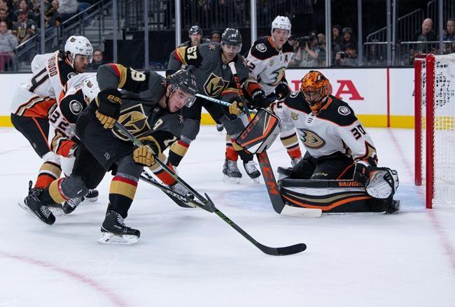Les Golden Knights battent les Ducks 5-0