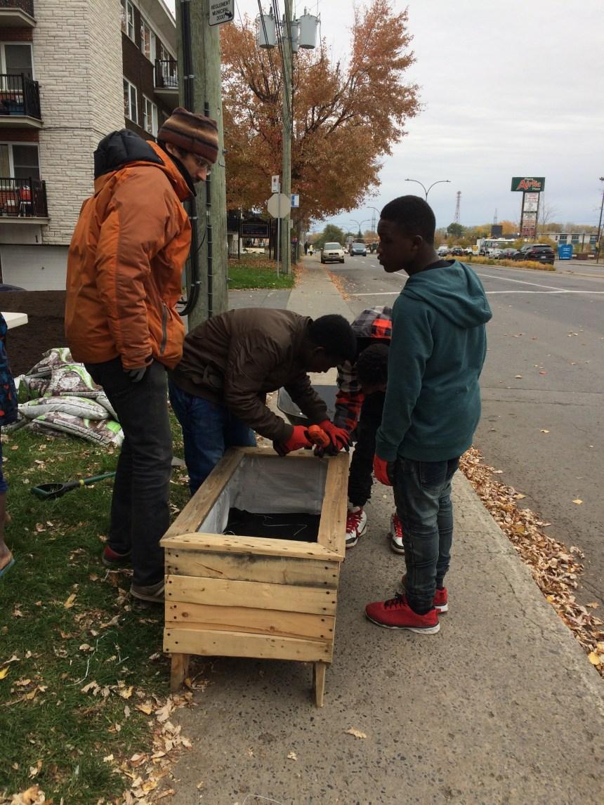 Des jeunes embellissent leur quartier à LaSalle
