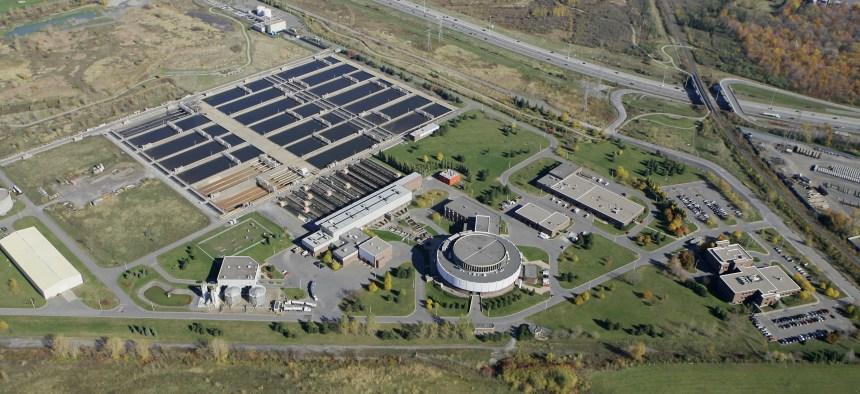 Construction en vue pour l'unité d'ozonation des eaux usées