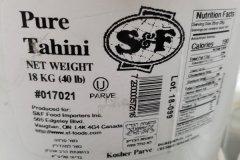 Des produits de tahini font l'objet d'un rappel