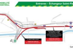 Fermeture complète de l'autoroute 20 Est à partir de Lachine
