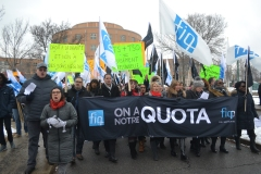 Manifestation devant le Lakeshore
