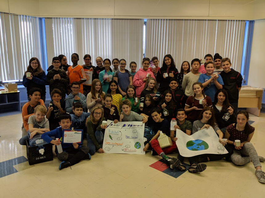 Jeunes entrepreneurs écolo à l'école Gentilly de Dorval
