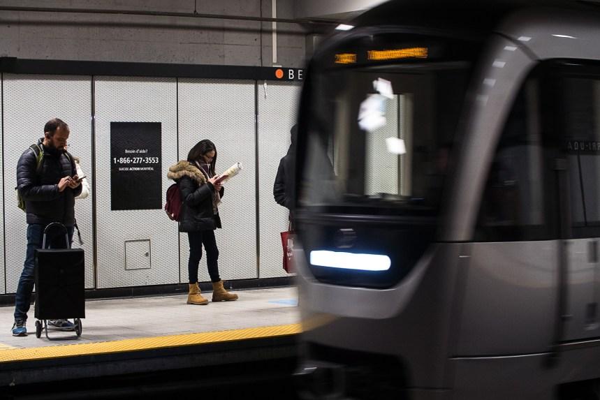 La STM lance une campagne de prévention du suicide dans le métro