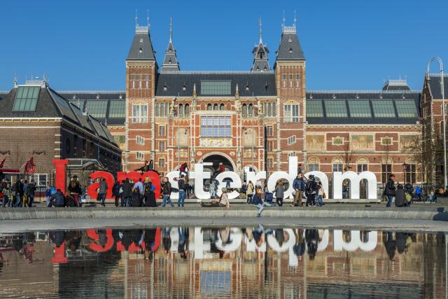 «I Amsterdam», le symbole de la ville déplacé